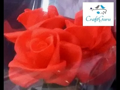 DIY : Beautiful Organza Flower 2 (Rose)