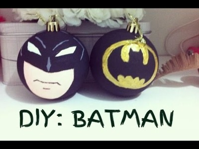 DIY: Enfeites de Natal do BATMAN