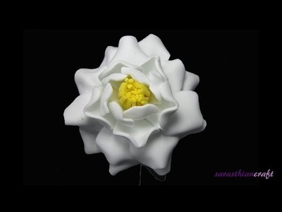 DIY Foam Flowers : Gardenia Style 2