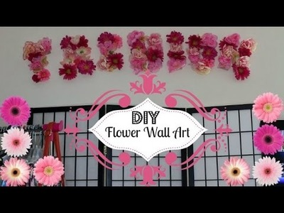 DIY| Girly Flower Pinterest Inspired Wall Art ❤ | thefashionvixen