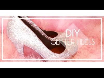 DIY Glitter Shoes  I New Years Eve Glitter Heels