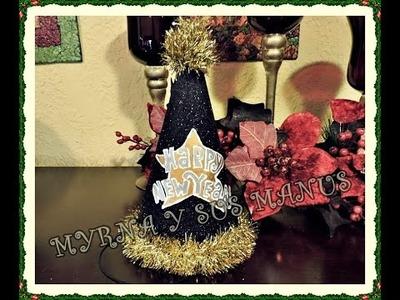 DIY. Gorro Feliz Año nuevo.  DIY. Happy New Year Hat