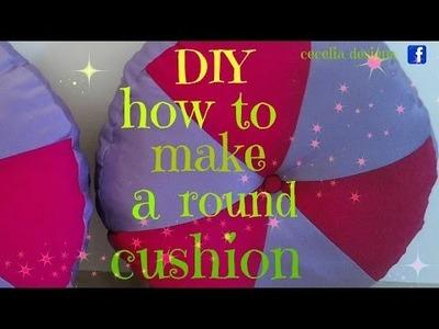 DIY how to make a round cushion