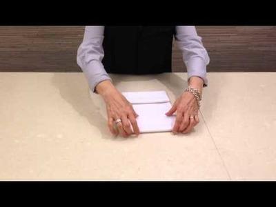 DIY Napkin: Standard Fold