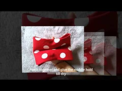 DIY No sew Minnie Mouse Bow!