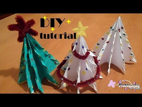 DIY Paper Christmas tree decorations and ornaments - FUNtastic by Sanja