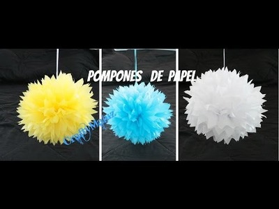 DIY: POMPOM DE PAPEL CHINA-Manualidades Fáciles