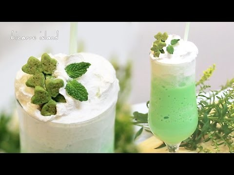 DIY St Paddy's Day Shamrock Frappuccino   d for delicious