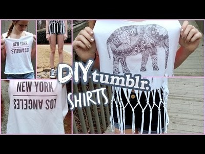 DIY Tumblr Spring Shirts!