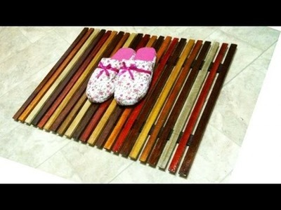 Make an Easy Wooden Slat Mat - DIY Home - Guidecentral
