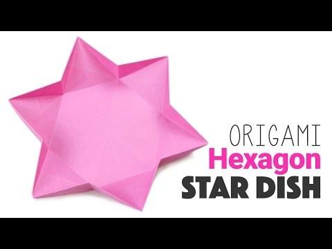 Origami 6 Sided Star Dish Instructions ★ DIY ★