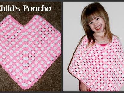 Child Poncho Crochet Tutorial