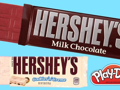 DIY Hershey's Candy Bars Play-Doh How To by DCTC * Playdough Food videos 2016