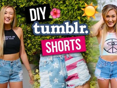 DIY Tumblr Inspired Denim Shorts! | LaurDIY