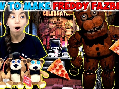 FNAF DIY Tutorial | How To Make A Freddy Fazbear Plushie for $5.00 | Kid Crafts