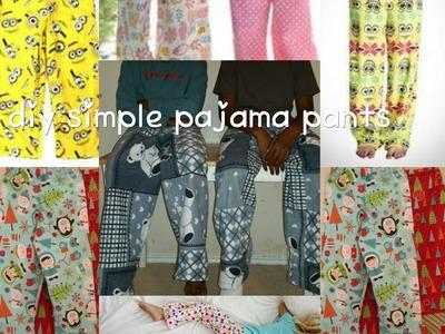 How to:diy simple pajama pants