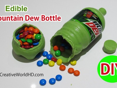 How to Make Edible Mountain Dew Bottle Soda Piñata DIY Tutorial by Creative World