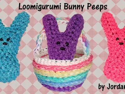 3D Easter Bunny Peeps Loomigurumi Amigurumi Rainbow Loom Band Crochet Hook Only