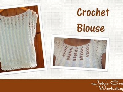 Braided crochet summer blouse