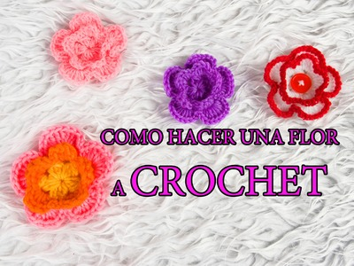 Como hacer una flor a crochet | How to do flower with crochet