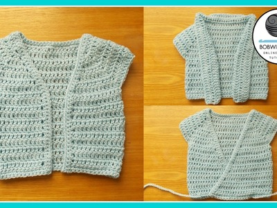 Crochet baby to child Cardigan Tutorial