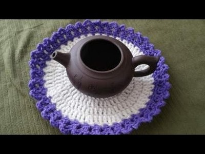 Crochet Hot Pot stand  - how to make easy coaster  - Delicious Desi Food