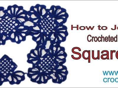 CROCHET: How to join lace crochet  squares   wwwika crochet