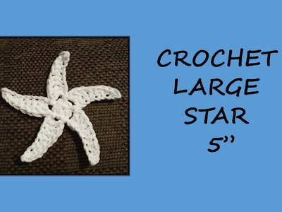 CROCHET LARGE STAR - COUNTING SHEEP SHELL STITCH BABY BLANKET