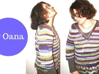 "Crochet ""Melissa"" sweater"