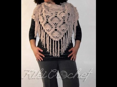 Crochet Pineapple Stitch Shawl (pt1)