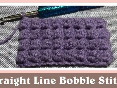 Crochet Straight Line Cluster Bobble Stitch