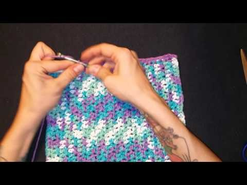Crochet washcloth tutorial step by step Part 2 The border
