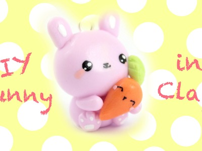 Cute Bunny & Carrot charm DIY! -in Clay!-  | Kawaii Friday