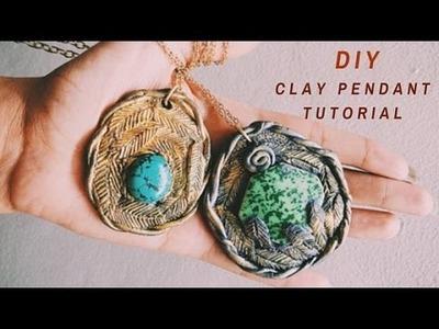 DIY Clay Pendant Tutorial