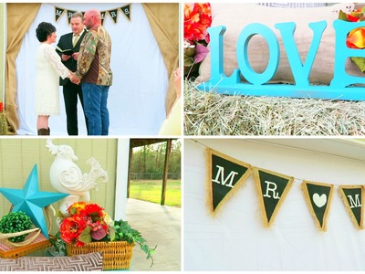 DIY WEDDING DECOR IDEAS | SMALL COUNTRY WEDDING | Love Meg