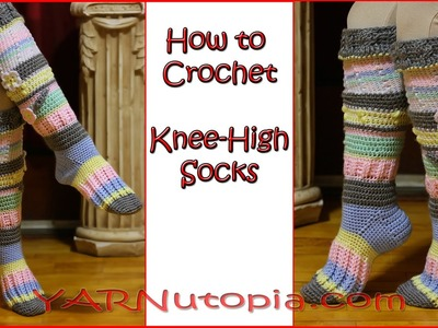 How to Crochet Knee High Socks