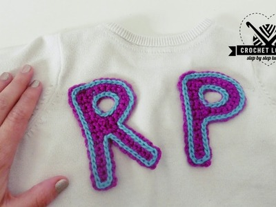 How to crochet LETTER P and LETTER R | step by step tutorial