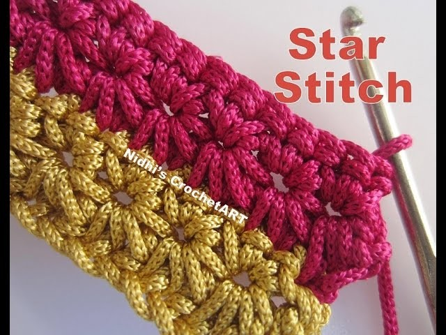 How To Crochet- STAR Stitch Tutorial