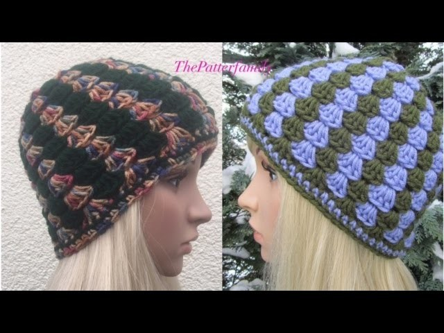 How to Crochet Vertical Stripes Beanie Hat Pattern #48│by ThePatterfamily