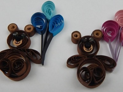 How to make a quilling bear with balloons newborn baby DIY (tutorial + free pattern)