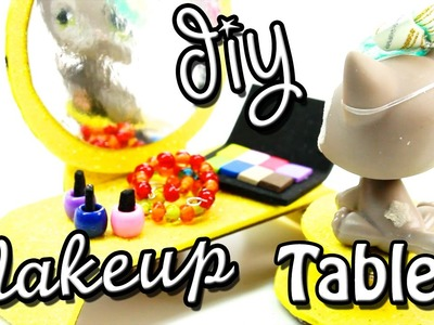 How to make DIY Makeup Table with Chair l Miniature Crafts l LPS