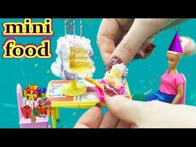How To Make  Miniature Cake for Doll - DIY Tiny Edible Cake   KIMYOKITTEN