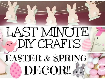 Last Minute & Easy DIY Easter & Spring Decor Crafts ♡ 2016