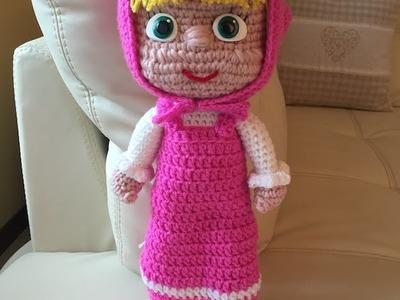 Masha Amigurumi seconda parte.How to crochet Masha Amigurumi