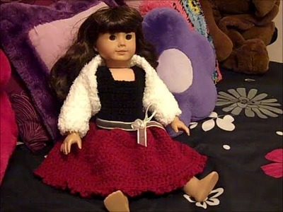 Party Time Doll Outfit - How to Crochet a Doll Shrug (Part 2) - Red Heart Yarn Pattern