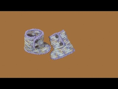 Stivaletti neonato all'uncinetto - tutorial passo a passo - crochet baby booties