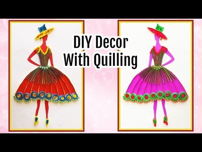 Amazing DIY Quilling Princess Frame for Room Decoration | DIY Room Decor for Teenagers