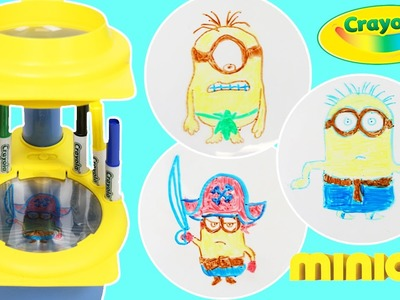 Crayola Minions Sketcher Projector Fun & Easy DIY Draw Despicable Me Minions Characters!