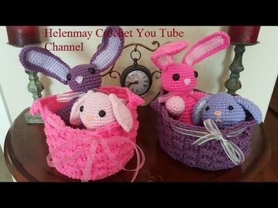 Crochet Basket Weave Easter Basket DIY Tutorial