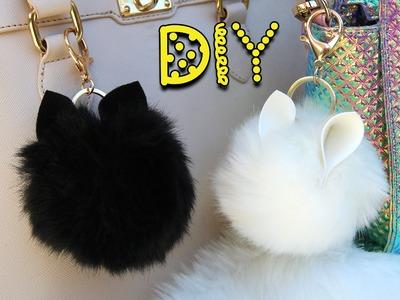DIY Animal Pom Pom Keychains || Lucykiins